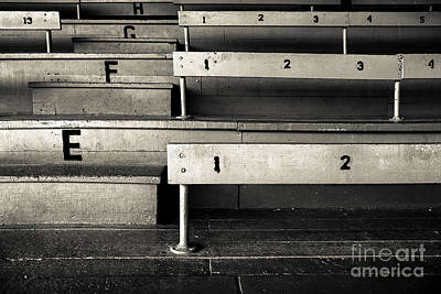 Seating Photograph - Old Stadium Bleachers by Diane Diederich