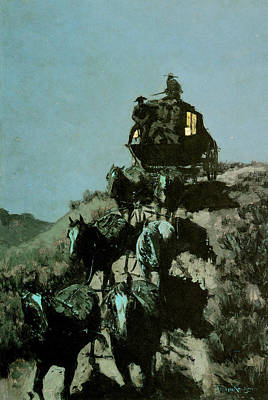 Photograph - Old Stage Coach Of The Plains by Frederic Remington