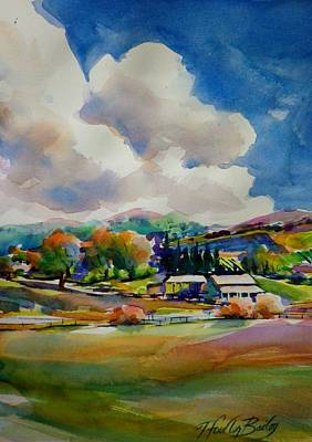Painting - Old Stage Coach Road Clouds by Therese Fowler-Bailey