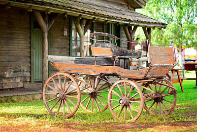 Old Stagecoach Parked Original by Tommytechno Sweden
