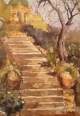 Sicily Painting - Old Stairwell by Gail Heffron