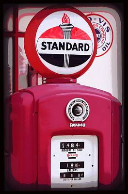 Photograph - Old Standard Oil Gas Pump by Sheri McLeroy