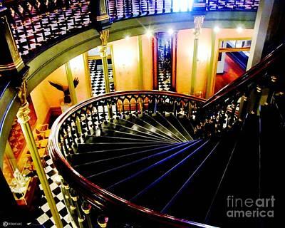 Photograph - Old State Capitol Stairs Baton Rouge La by Lizi Beard-Ward