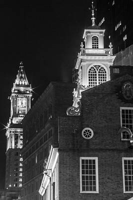 Photograph - Old State House Andcommon House Tower  by John McGraw