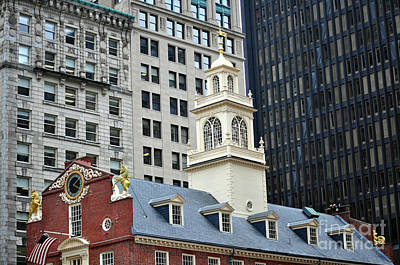 Photograph - Old State House Boston Ma by Staci Bigelow