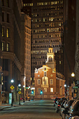 Photograph - Old State House By Night by Joann Vitali