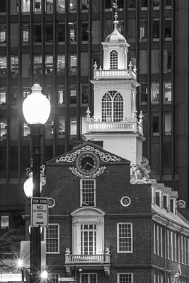 Photograph - Old State House In Boston Black And White by John McGraw