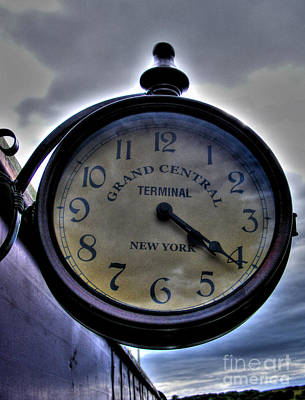 Photograph - Old Station Clock by Nina Ficur Feenan