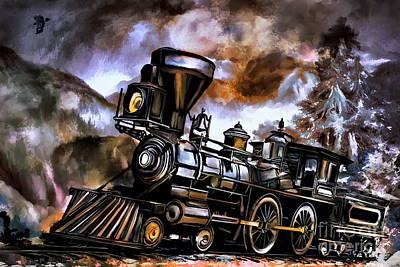 Old Steam Engine  Art Print by Andrzej Szczerski