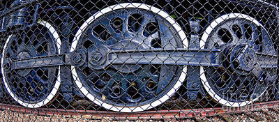 Photograph - Old Steam Engine -train Wheels by Liane Wright