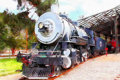Photograph - Old Steam Locomotive 5d29200wcstyle by Wingsdomain Art and Photography