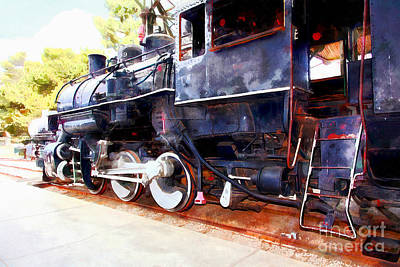 Photograph - Old Steam Locomotive 5d29222wcstyle by Wingsdomain Art and Photography