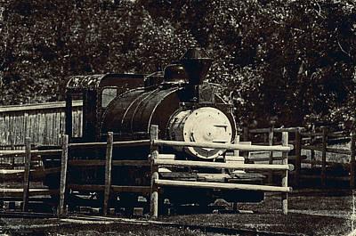 Old Steam Locomotive  Art Print by Maria Angelica Maira