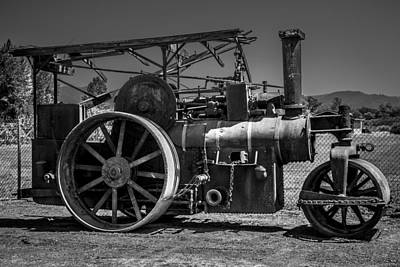 Machinery Photograph - Old Steam Roller by Garry Gay