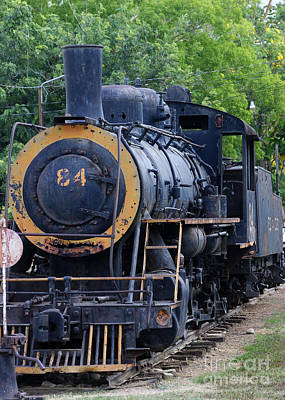 Photograph - old steam train in Costa Rica by Rudi Prott