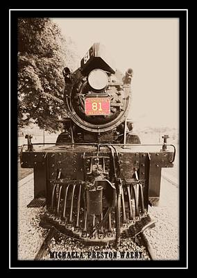 Photograph - Old Steam Train by Michaela Preston