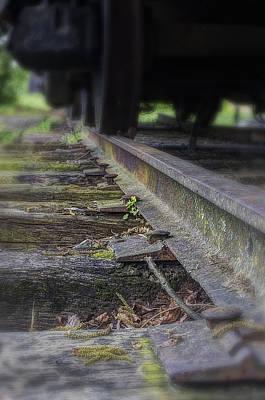 Photograph - Old Steel Railroad Tracks by Steve Hurt