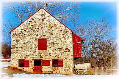 Photograph - Old Stone Barn by Carolyn Derstine