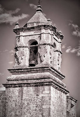 Photograph - Old Stone Bell Tower by Joan Herwig