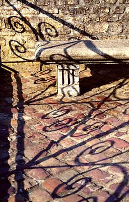 Art Print featuring the photograph Old Stone Bench by Mary Bedy