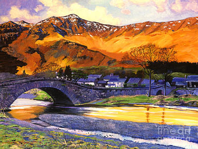 Scotland Painting - Old Stone Bridge by David Lloyd Glover