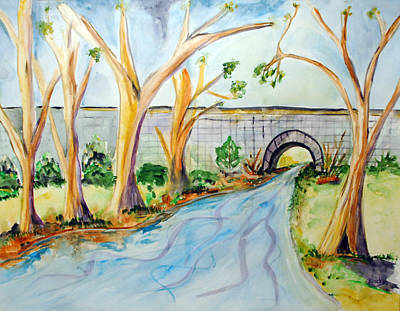 Painting - Old Stone Bridge by Donna Blackhall