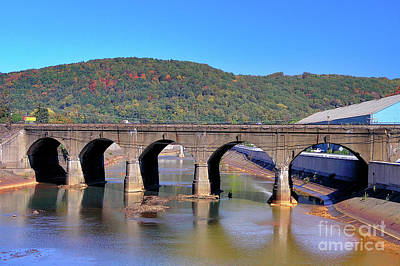 Photograph - Old Stone Bridge - Johnstown Pa by John Waclo