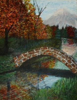 Design Pics Painting - Old Stone Bridge by Larry Lamb