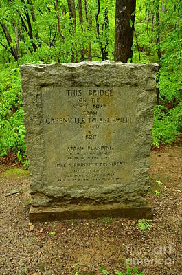 Photograph - Old Stone Bridge Marker by Bob Sample