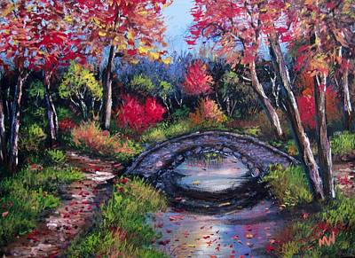Old Stone Bridge Art Print