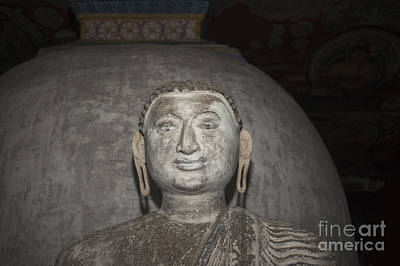 Buddha Image Photograph - Old Stone Buddha Statue by Patricia Hofmeester