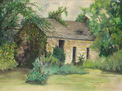 Old Stone Building In Kansas Art Print by Sheila Kinsey