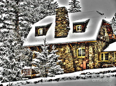 Old Stone Building Art Print