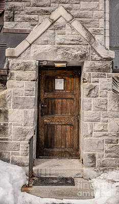 Photograph - Old Stone Church Door by Edward Fielding