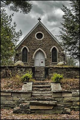 Photograph - Old Stone Church by Erika Fawcett