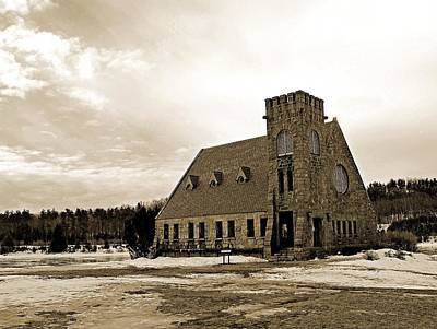Photograph - Old Stone Church In Sepia by Michael Saunders