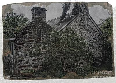 Digital Art - Old Stone Cottage by Fran Woods