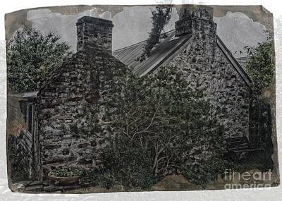 Digital Art - Old Stone Cottage by Fran Woods