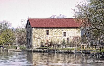 Old Stone House On The Canal Art Print by Jim Lepard