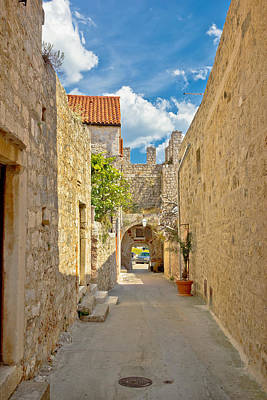 Photograph - Old Stone Narrow Street Of Hvar by Brch Photography