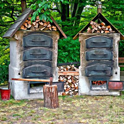 Photograph - Old Stone Ovens Outside by Gabriele Pomykaj