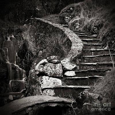 Old Stone Stairway Art Print by Charmian Vistaunet