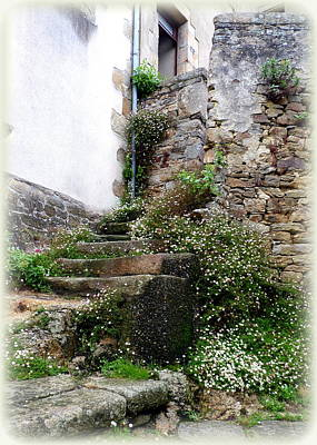 Weathered Photograph - Old Stone Steps by Carla Parris