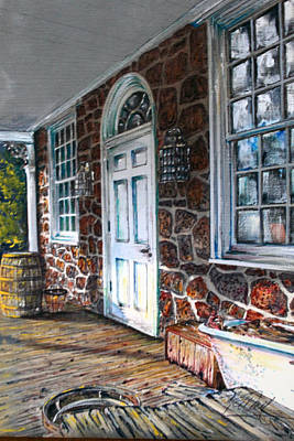 Old Stone Store Front Art Print by Martin Way