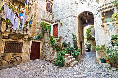 Old Stone Street Of Trogir Art Print