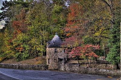 Art Print featuring the photograph Old Stone Tower At The Edge Of The Forest by Jonny D