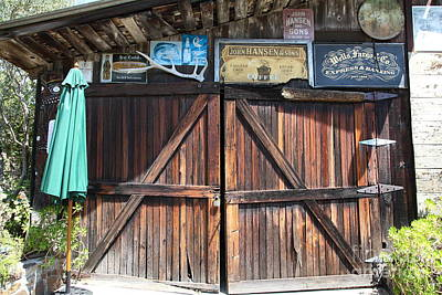 Old Storage Shed At The Swiss Hotel Sonoma California 5d24457 Art Print by Wingsdomain Art and Photography