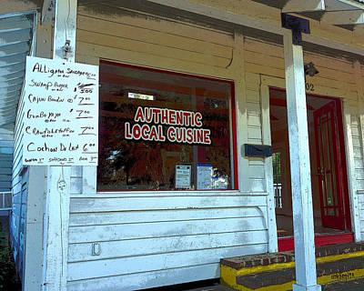 Food Stores Digital Art - Old Store - Cajun Menu Sign  by Rebecca Korpita