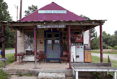 Red Roof Mixed Media - Old Store by Charles Shoup