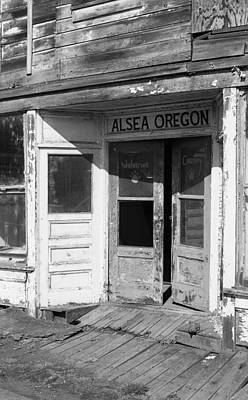 Photograph - Old Store Front - Alsea Oregon by HW Kateley